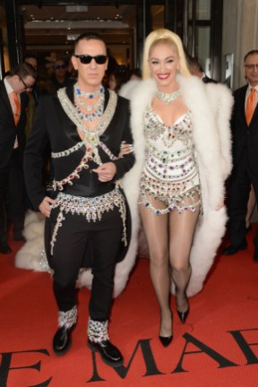 NEW YORK, NEW YORK - MAY 06: Jeremy Scott and Gwen Steffani depart The Mark Hotel for the 2019 'Camp: Notes on Fashion' Met Gala on May 06, 2019 in New York City. (Photo by Andrew Toth/Getty Images for The Mark Hotel)