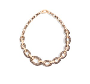 Tango necklace in rose gold and brown diamonds by Pomellato