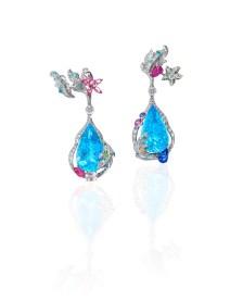 ANNA HU Siren's Aria Earrings in Aquamarine