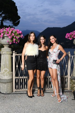 COMO, ITALY - JULY 09: Giorgia Tordini, Gilda Ambrosio and Evangelie Smyrniotaki attend Bvlgari Splendida Tubereuse Mystique Event on July 09, 2019 in Cernobbio, Como Lake, Italy. (Photo by Daniele Venturelli/Daniele Venturelli/ Getty Images for Bvlgari)