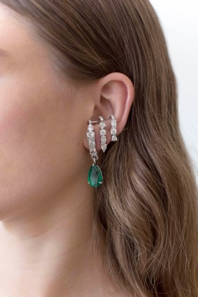 Diamond and Emerald Daphne Earring - USA1800