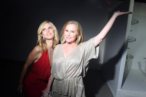 PARIS, FRANCE - JULY 02: Nicky Hilton (L) and Kathy Hilton attend Tod's X Alber Elbaz Happy Moments at Yoyo Palais De Tokyo on July 02, 2019 in Paris, France. (Photo by Victor Boyko/WireImage)