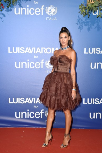 PORTO CERVO, ITALY - AUGUST 09: Melissa Satta attends the photocall at the Unicef Summer Gala Presented by Luisaviaroma at on August 09, 2019 in Porto Cervo, Italy. (Photo by Jacopo Raule/Getty Images for Luisaviaroma)