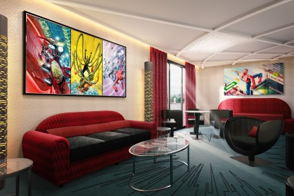 Spider-Man Suite - living room