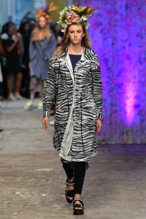 Model wears an outfit , as part of the women ready-to-wear summer 2020, women fashion week, Paris, Fra, from the house of Tatras