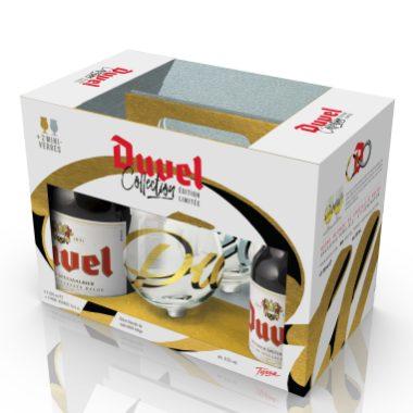 Duvel & Tyrsa - Coffret 4x33cl + 2 mini-verres 16,5cl - Simulation Or