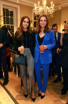 LONDON, ENGLAND - NOVEMBER 20: (L-R) Natalie Salmon and Rosie Tapner attend the opening celebrations for the J.P Hackett store at No.14 Savile Row on November 20, 2019 in London, England. (Photo by David M. Benett/Dave Benett/Getty Images for Hackett)