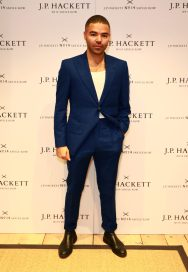 LONDON, ENGLAND - NOVEMBER 20: Actor Ash Hunter attends the opening celebrations for the J.P Hackett store at No.14 Savile Row on November 20, 2019 in London, England. (Photo by David M. Benett/Dave Benett/Getty Images for Hackett)