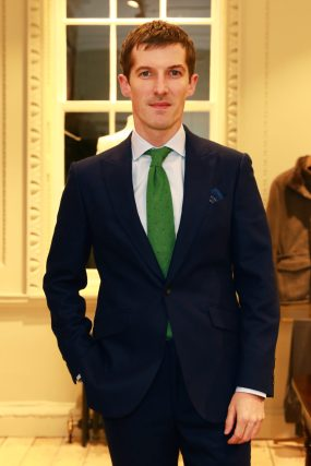 LONDON, ENGLAND - NOVEMBER 20: Actor Gwilym Lee attends the opening celebrations for the J.P Hackett store at No.14 Savile Row on November 20, 2019 in London, England. (Photo by David M. Benett/Dave Benett/Getty Images for Hackett)