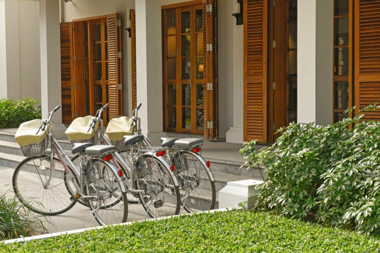 Bicycles; Hotel Azerai; Luang Prabang. Laos.
