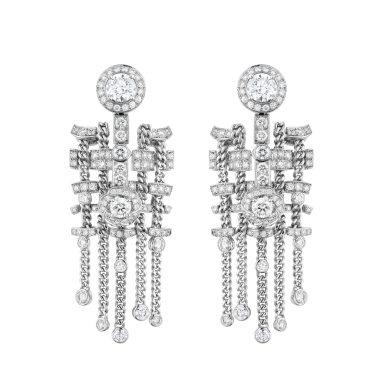 Tweed Brode Earrings-hd