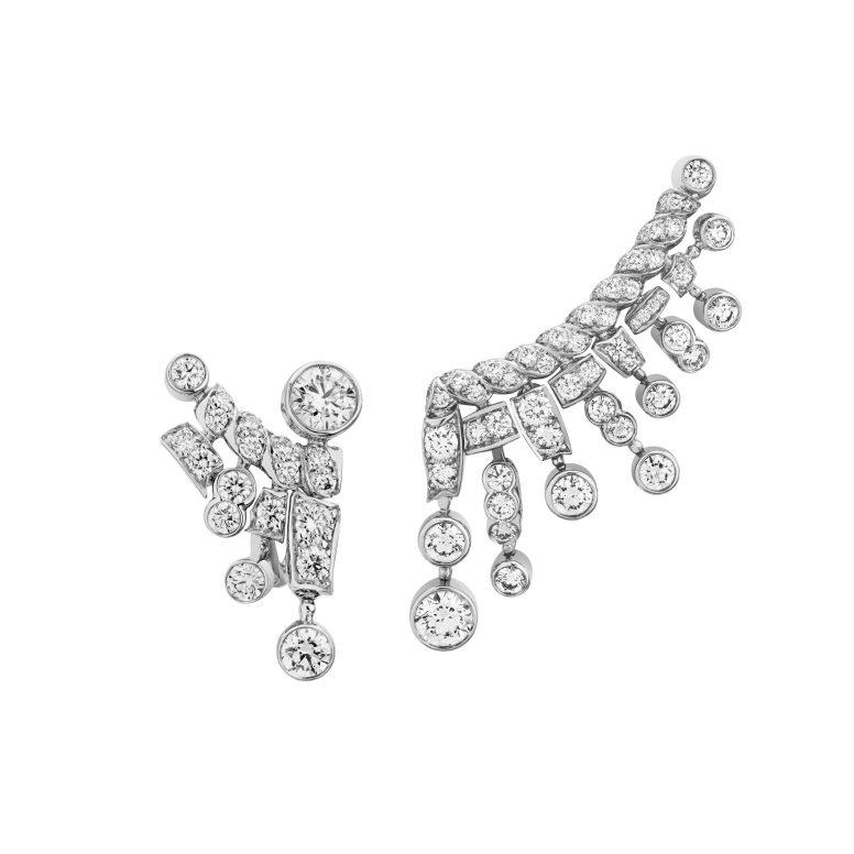 Tweed Frange Earrings-hd