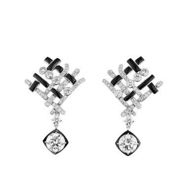 Tweed Graphique Earrings-hd