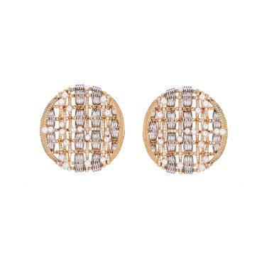 Tweed d'Or Earrings-hd