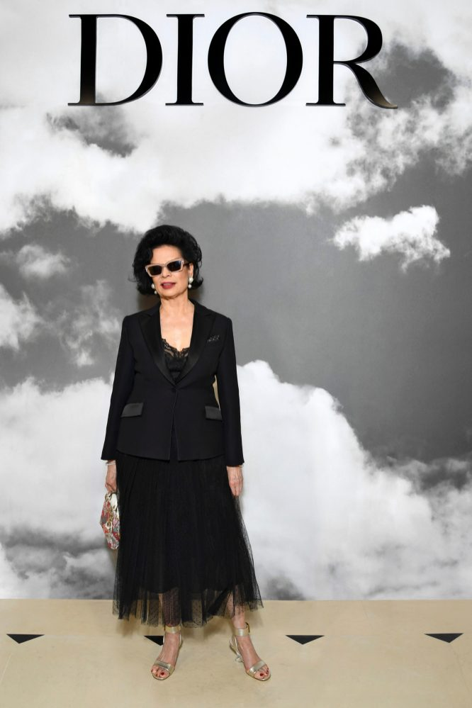 PARIS, FRANCE - JULY 01: Bianca Jagger attends the Christian Dior Haute Couture Fall/Winter 2019 2020 show as part of Paris Fashion Week on July 01, 2019 in Paris, France. (Photo by Pascal Le Segretain/Getty Images for Dior)