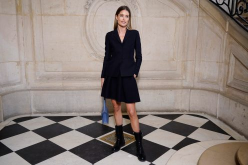 PARIS, FRANCE - JANUARY 20: Doutzen Kroes attends the Dior Haute Couture Spring/Summer 2020 show as part of Paris Fashion Week on January 20, 2020 in Paris, France. (Photo by Francois Durand/Getty Images)