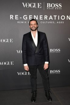 MILAN, ITALY - FEBRUARY 21: Christian Pellizzari arrives for the BOSS & VOGUE Italia Event at Hotel Viu Milan on February 21, 2020 in Milan, Italy. (Photo by Jacopo M. Raule/Getty Images for Boss)