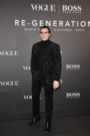 MILAN, ITALY - FEBRUARY 21: Carlo Sestini arrives for the BOSS & VOGUE Italia Event at Hotel Viu Milan on February 21, 2020 in Milan, Italy. (Photo by Jacopo M. Raule/Getty Images for Boss)