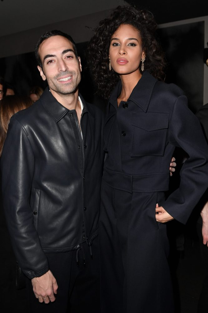 MILAN, ITALY - FEBRUARY 21: Mohammed Al Turki and Cindy Bruna arrive for the BOSS & VOGUE Italia Event at Hotel Viu Milan on February 21, 2020 in Milan, Italy. (Photo by Jacopo M. Raule/Getty Images for Boss)