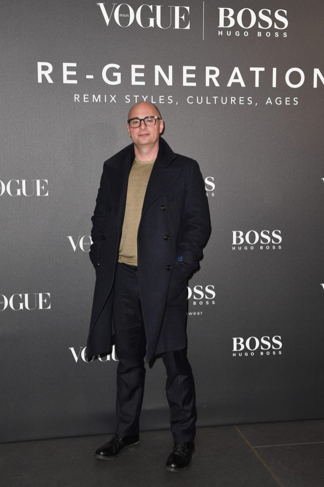 MILAN, ITALY - FEBRUARY 21: Giovanni Audiffredi arrives for the BOSS & VOGUE Italia Event at Hotel Viu Milan on February 21, 2020 in Milan, Italy. (Photo by Jacopo M. Raule/Getty Images for Boss)