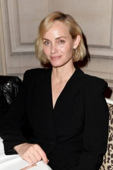PARIS, FRANCE - FEBRUARY 29: Amber Valletta attends the Monot show as part of the Paris Fashion Week Womenswear Fall/Winter 2020/2021 on February 29, 2020 in Paris, France. (Photo by Jacopo Raule/Getty Images)