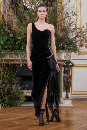 Model wears an outfit as part of the women ready-to-wear autumn winter 2020 2021, women fashion week, Paris, FRA, from the house of Valentin Yudashkin
