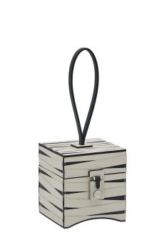 Mini Vanity Ramses - Natural Calf - White and Black