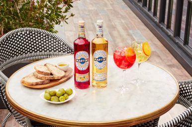 MARTINI NON-ALCOHOLIC VIBRANTE AND FLOREALE AND TONIC SUMMER (WITH BOTTLES)