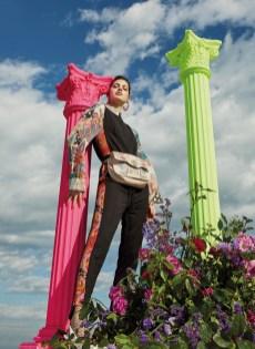 Monsieur Christian Lacroix jumpsuit&bag+Desigual shirt