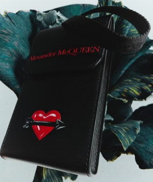 Alexander McQueen Valentine's Day & Chinese New Year Capsule Collection - Men's Iphone Pouch photographed by Hanna Tveite