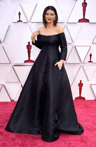 LOS ANGELES, CALIFORNIA – APRIL 25: Laura Pausini attends the 93rd Annual Academy Awards at Union Station on April 25, 2021 in Los Angeles, California. (Photo by Chris Pizzelo-Pool/Getty Images)
