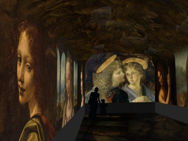 Spectacle immersif - image de synthèse © Château du Clos Lucé – Parc Leonardo da Vinci. Arc-en-Sce:ne : Drôle de Trame