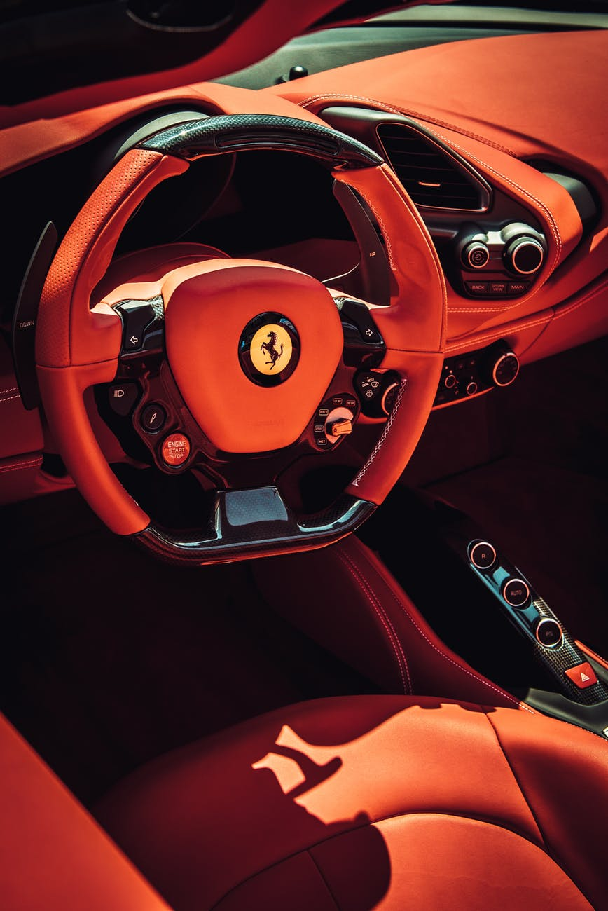 photo of car interior