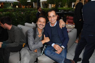 MILAN, ITALY - SEPTEMBER 23: Fabio Novembre and Angelo Sensini are seen at Michael Kors intimate Cocktail Party in Celebration of his 40th Anniversary on September 23, 2021 in Milan, Italy. (Photo by Jacopo M. Raule/Getty Images for Michael Kors)