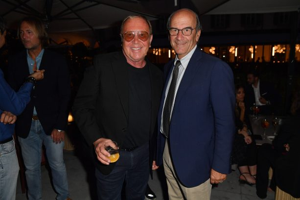 MILAN, ITALY - SEPTEMBER 23: Raffaello Napoleone and Michael Kors are seen at Michael Kors intimate Cocktail Party in Celebration of his 40th Anniversary on September 23, 2021 in Milan, Italy. (Photo by Jacopo M. Raule/Getty Images for Michael Kors)