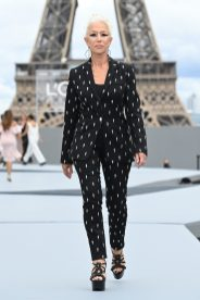 """PARIS, FRANCE - OCTOBER 03: Dame Helen Mirren walks the runway during """"Le Defile L'Oreal Paris 2021"""" as part of Paris Fashion Week on October 03, 2021 in Paris, France. (Photo by Pascal Le Segretain/Getty Images For L'Oreal)"""