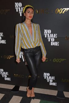 LONDON, ENGLAND - SEPTEMBER 29: Laura Ismail attends a private screening of 'No Time To Die' hosted by Michael Kors in celebration of the Michael Kors Bond 007 Capsule Collection partnership, at the Everyman Chelsea on September 29, 2021 in London, England. (Photo by David M. Benett/Dave Benett/Getty Images for Michael Kors)