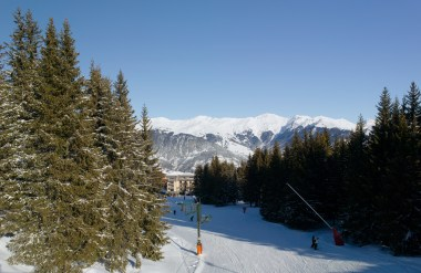 View from Bellecote Ski Slope