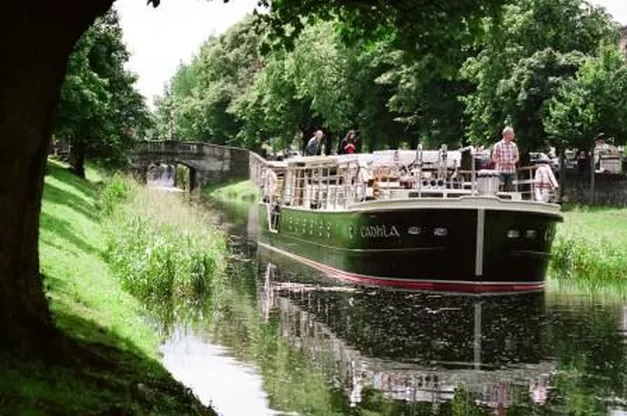 The Canal Boat Restaurant in Dublin, Ireland