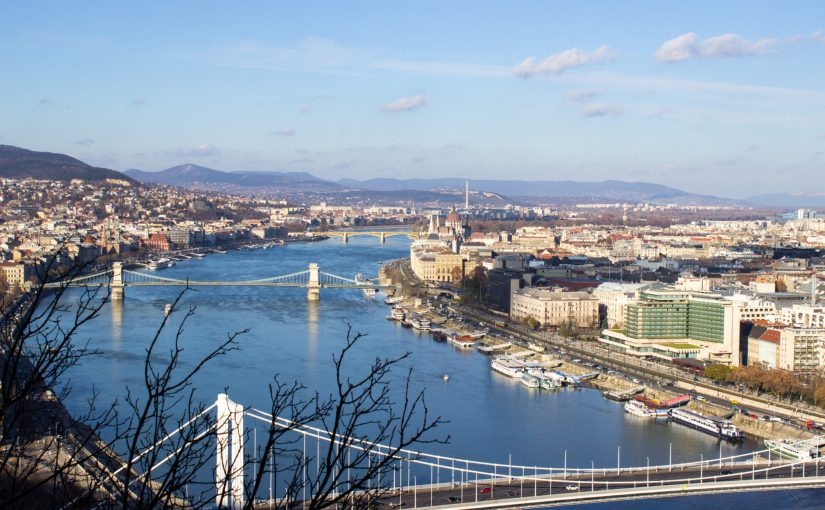 View of the bridges in Budapest