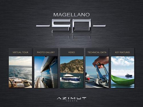 The new Azimut Yachts i-Pad application