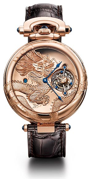 Bovet 18k red gold Amadeo Convertible 7 Day Tourbillon Dragon & Phoenix