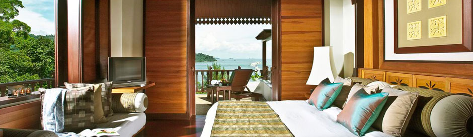 The interior of one of the Garden Villas at Pangkor Laut Resort