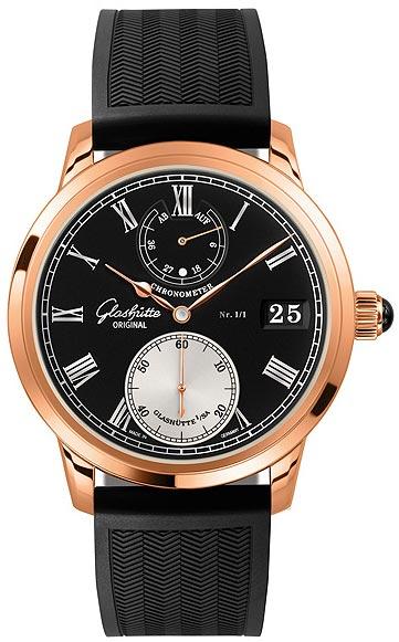 Glashütte Original Senator Chronometer No. 1/1 18K red gold chronometer wristwatch