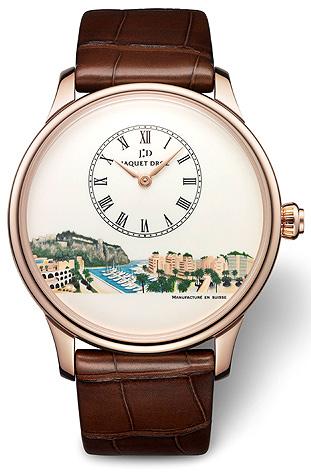 Jaquet Droz Petite Heure Minute Monaco Numerus Clausus 1/1, unique, 18K red gold watch
