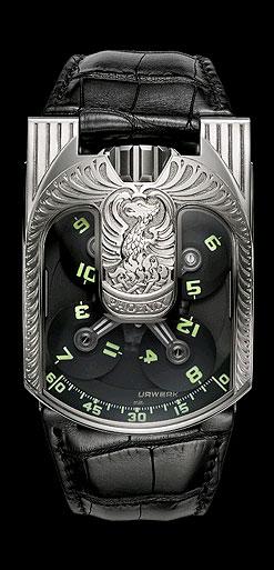 Urwerk Genève, UR-103 Phoenix 18K white gold and titanium wristwatch