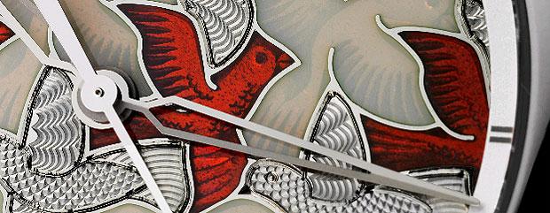 Vacheron Constantin Métiers d'Art Perspectives d'Art Dove 18K white gold and diamond wristwatch