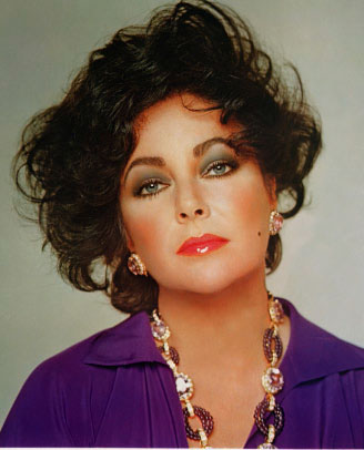 Elizabeth Taylor's violet eyes were legendary. She frequently chose purple outfits to enhance the color.