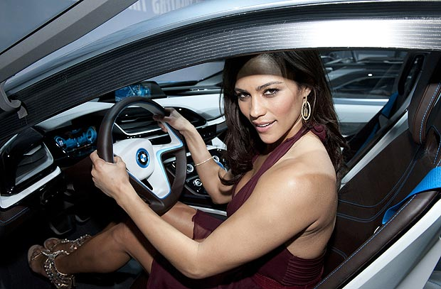 Mission Impossible Ghost Protocal Star Paula Patton unveils BMWs i3 and i8 Concept Cars