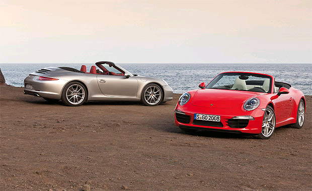 The Porsche 911 Carerra Cabriolet with innovative folding roof available in March 2012